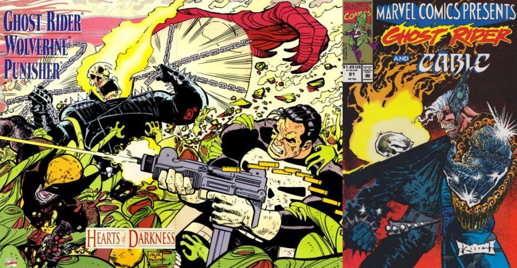 Uno de sus trabajos más conocidos es la novela gráfica Ghost Rider / Punisher Wolverine: Heart of Darkness.