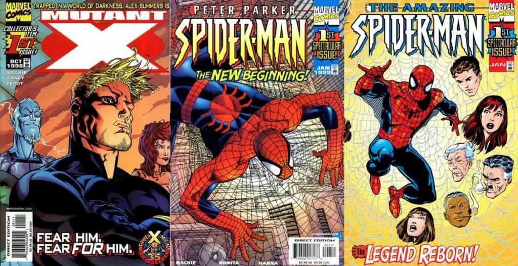 Mutant X reemplazó a X-Factor, y además de esa serie Mackie escribía dos títulos de Spider-Man.