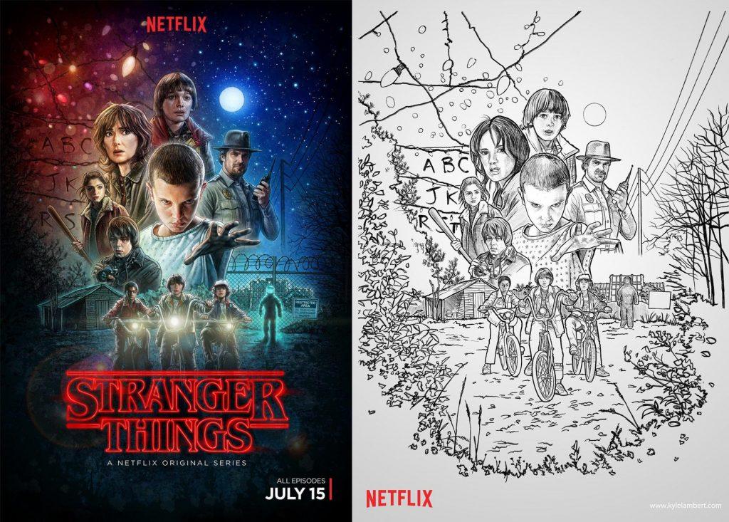 Kyle Lambert fue el artista responsable del poster oficial de la serie.