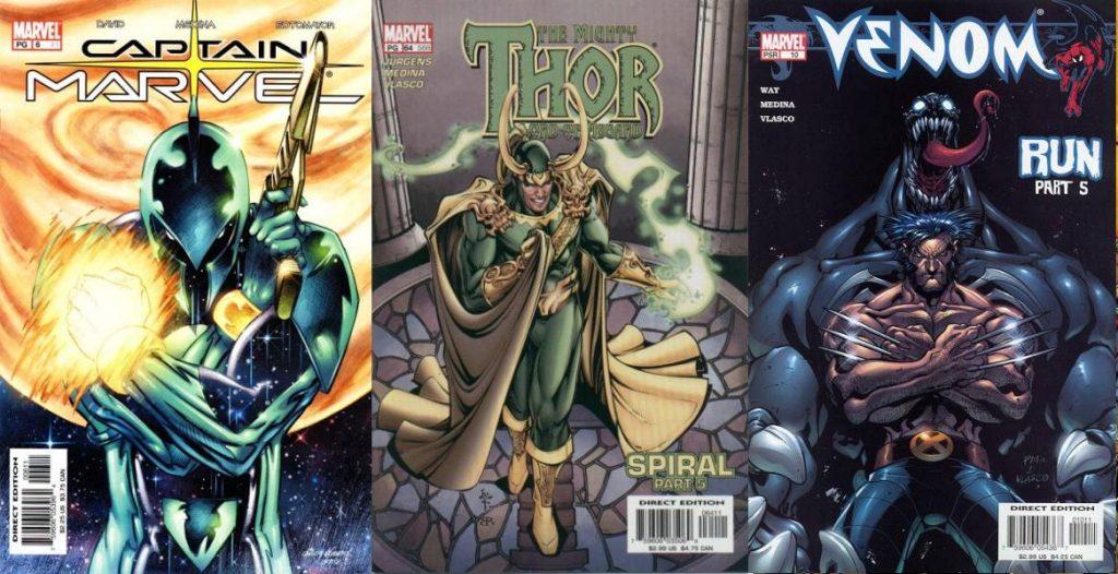 Su llegada a Marvel fue con Captain Marvel, y tras un breve paso por Thor, Venom fue donde dejó su primera huella.