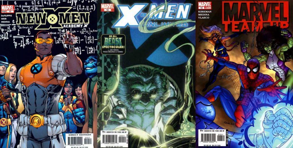 Su primer roce con los mutantes de Marvel fue breve, y Marvel Team-Up lo llevó a colaborar con Robert Kirkman.