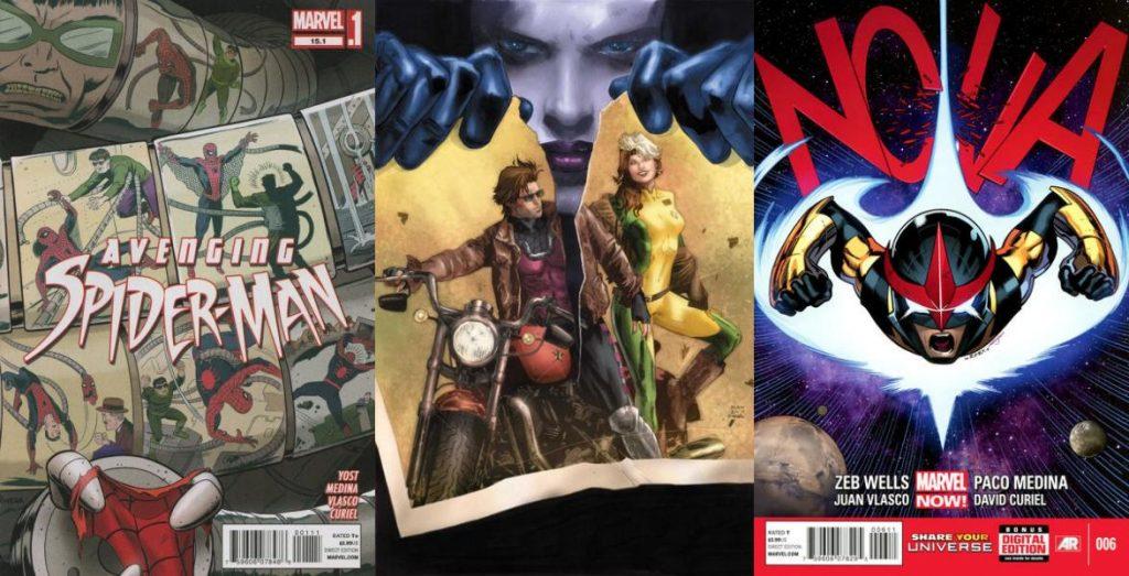 Un breve paso por otro título de Spider-Man fue seguido por héroes cósmicos.