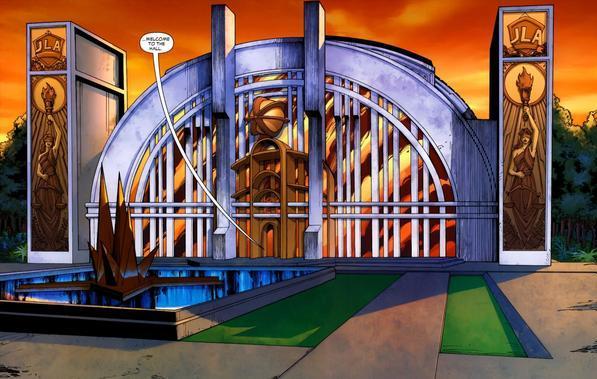 Ésta es la versión del Hall of Justice presentada en 2007 en los cómics de DC.