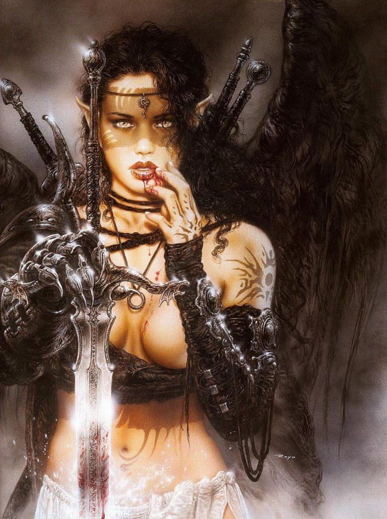 luis_royo_fantastic art_dark elfs kiss