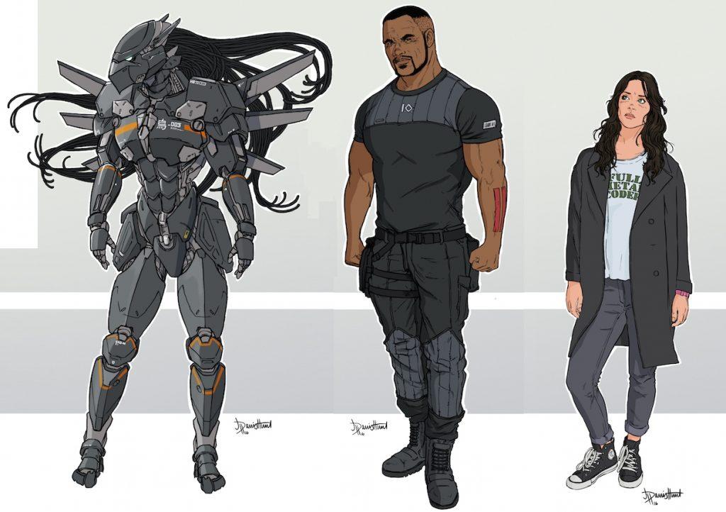 Diseños de personajes, por Jon Davis-Hunt.