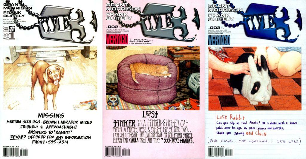 Las portadas de la miniserie original hacen énfasis en el origen doméstico de sus protagonistas.