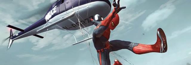 Spider-Man en un Helicóptero