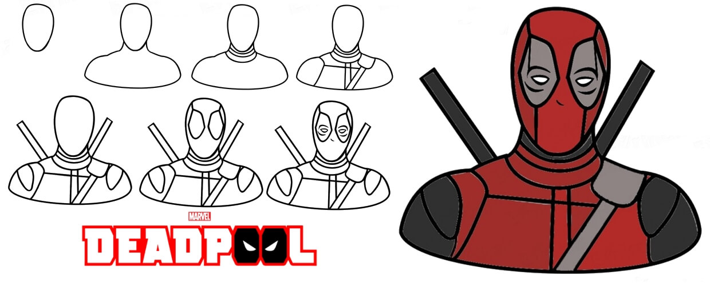 Deadpool Para Colorear Imagenes De Deadpool Para Colorear: Dibujos De Deadpool A Lapiz Para Colorear Personajes De Comic